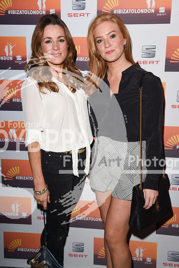 Natalie Pinkham and Sarah Jane Mee<br /> attends the SEAT Ibiza launch party at Carousel, London<br /> <br /> &copy;Ash Knotek  D3019  29/09/2015