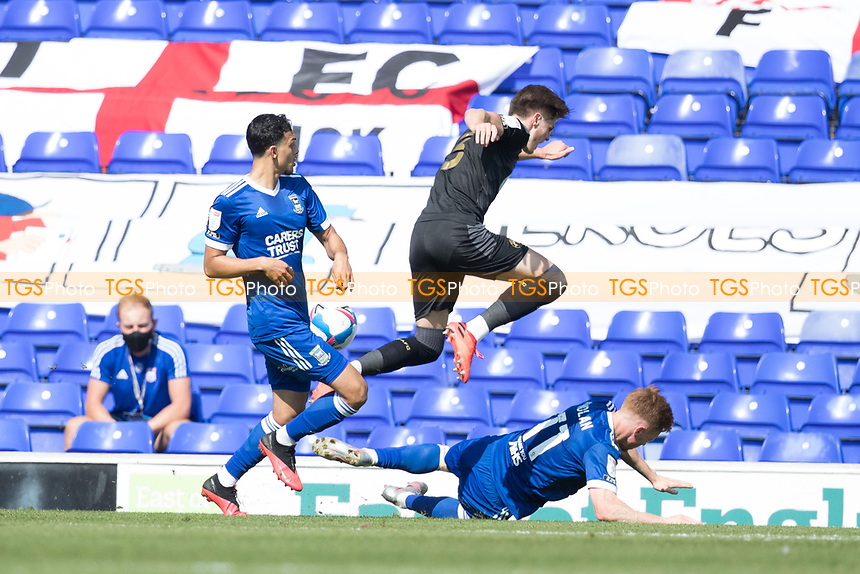 Jon Nolan of Ipswich Town prevents Tom Pearce, Wigan Athletic,  from getting though to goal during Ipswich Town vs Wigan Athletic, Sky Bet EFL League 1 Football at Portman Road on 13th September 2020