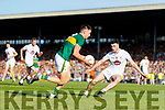 Jack Barry Kerry in action against Kevin Flynn Kildare during the GAA Football All-Ireland Senior Championship Quarter-Final Group 1 Phase 3 match between Kerry and Kildare at Fitzgerald Stadium in Killarney, on Saturday evening.