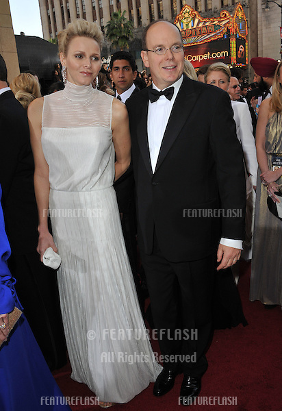 Princess Charlene of Monaco; Prince Albert of Monaco at the 84th Annual Academy Awards at the Hollywood & Highland Theatre, Hollywood..February 26, 2012  Los Angeles, CA.Picture: Paul Smith / Featureflash