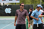 CHAPEL HILL, NC - MAY 13: South Carolina head coach Josh Goffi. The University of North Carolina Tar Heels hosted the University of South Carolina Gamecocks on May 13, 2017, at The Cone-Kenfield Tennis Center in Chapel Hill, NC in an NCAA Division I Men's College Tennis Tournament second round match. UNC won 4-1.