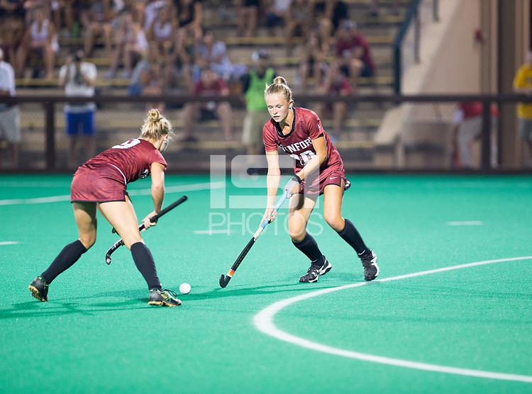 Stanford, CA - September 1,  2017:  The Stanford Field Hockey team defeats Iowa 3-2 at Varsity Field Hockey Turf at Stanford, CA.