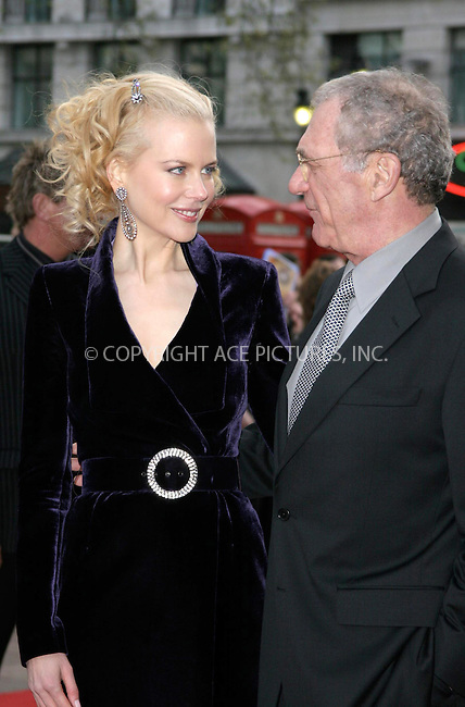 WWW.ACEPIXS.COM . . . . .  ... . . . . US SALES ONLY . . . . .....LONDON, APRIL 14, 2005....Nicole Kidman and Sydney Pollack at the UK premiere of The Interpreter held at the Empire Leicester Square Cinema.....Please byline: FFAMOUS-ACE PICTURES-F. DUVAL... . . . .  ....Ace Pictures, Inc:  ..Craig Ashby (212) 243-8787..e-mail: picturedesk@acepixs.com..web: http://www.acepixs.com