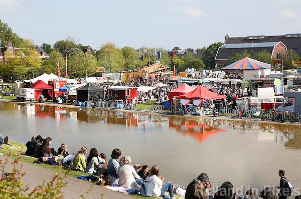 Amsterdam Westerpark. Foodfestival De Rollende keukens.