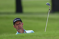 Justin Rose (GBR) watches his his from the trap on 2 during round 2 of the 2019 Charles Schwab Challenge, Colonial Country Club, Ft. Worth, Texas,  USA. 5/24/2019.<br /> Picture: Golffile   Ken Murray<br /> <br /> All photo usage must carry mandatory copyright credit (© Golffile   Ken Murray)