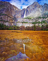 Yosemite Falls Reflections, Yosemite National Park, Sierra Nevada Mountains, California