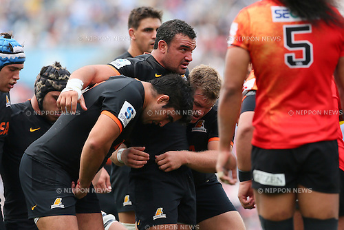 Jaguares team group, <br /> APRIL 23, 2016 - Rugby : <br /> Super Rugby match between Sunwolves 36-28 Jaguares <br /> at Prince Chichibu Memorial Stadium in Tokyo, Japan. <br /> (Photo by Yohei Osada/AFLO SPORT)