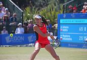 June 17th 2017, Nottingham, England;WTA Aegon Nottingham Open Tennis Tournament day 6;  Johanna Konta of Great Britain heading towards victory over Magdalena Rybarikova of The Slovak Republic