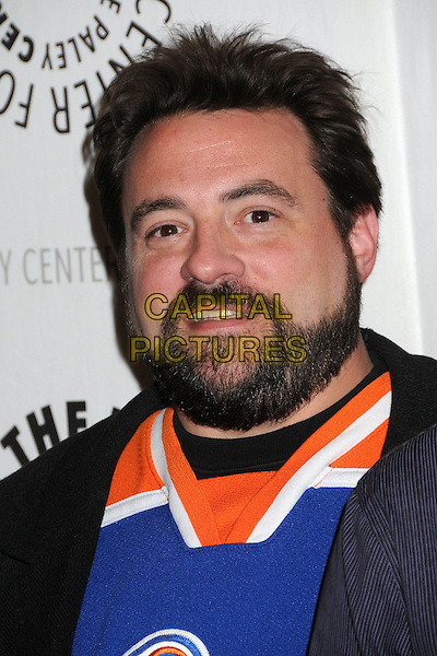 "Kevin Smith.""Batman: The Dark Knight Returns, Part 2"" Los Angeles Premiere held at The Paley Center, Beverly Hills, California, USA..January 28th, 2013.headshot portait white orange blue  beard facial hair .CAP/ADM/BP.©Byron Purvis/AdMedia/Capital Pictures."