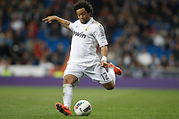 24.03.2012 SPAIN -  La Liga matchday 30th  match played between Real Madrid CF vs Real Sociedad (5-1) at Santiago Bernabeu stadium. The picture show Marcelo Vieira (Brazilian defender of Real Madrid)