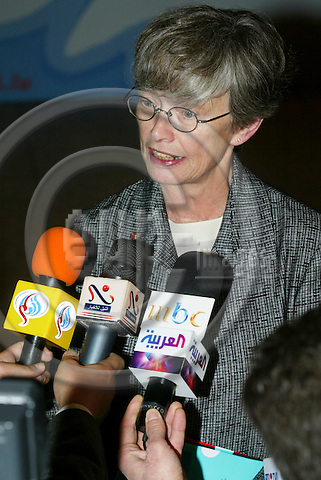 BRUSSELS - BELGIUM - 07 JANUARY 2005 --Carol BELLAMY, Executive Director of the United Nations Children Fund (UNICEF), at her arrival for the EU foreign ministers informal council meeting to discuss options for the tsunami-struck south east Asia after the bloc pledged 1.5bn euro in aid.-- PHOTO: ERIK LUNTANG / EUP-IMAGES
