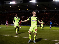 Bolton Wanderers' Ronan Darcy (right) celebrates scoring his side's first goal <br /> <br /> Photographer Andrew Kearns/CameraSport<br /> <br /> The EFL Sky Bet League One - Lincoln City v Bolton Wanderers - Tuesday 14th January 2020  - LNER Stadium - Lincoln<br /> <br /> World Copyright © 2020 CameraSport. All rights reserved. 43 Linden Ave. Countesthorpe. Leicester. England. LE8 5PG - Tel: +44 (0) 116 277 4147 - admin@camerasport.com - www.camerasport.com