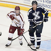 Ryan Fitzgerald (BC - 19), Gabriel O'Connor (StFX - 44) - The Boston College Eagles defeated the visiting St. Francis Xavier University X-Men 8-2 in an exhibition game on Sunday, October 6, 2013, at Kelley Rink in Conte Forum in Chestnut Hill, Massachusetts.
