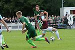 28.07.2017, Sportplatz, Schneverdingen, GER, FSP SV Werder Bremen (GER) vs WestHam United (ENG), <br /> <br /> im Bild<br /> <br /> Philipp Bargfrede (Werder Bremen #44)<br /> Declan Rice  (WestHam)<br /> Johannes Eggestein (Werder Bremen #24)<br /> <br /> Foto &copy; nordphoto / Kokenge