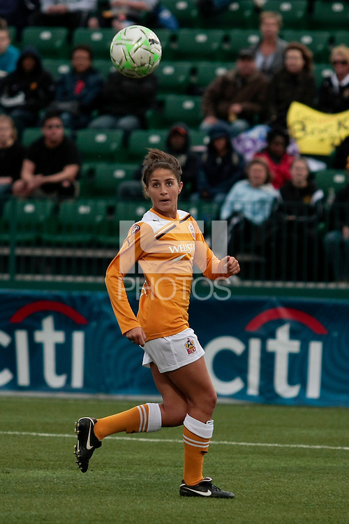 Megan Jesolva of the Atlanta Beat controls the ball vs Western New York Flash during the second half of their WPS match at Sahlen's Stadium in Rochester, NY May 01, 2011. New York 3, Atlanta 0.