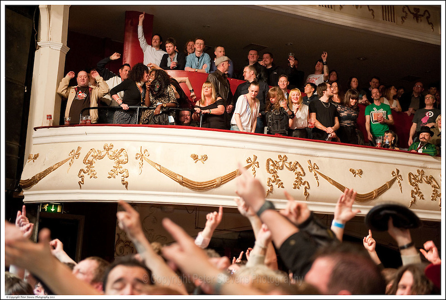 Audience enjoy the show -<br /> <br /> Big Audio Dynamite perform at the Shepherds Bush Empire on the 2nd April 2011