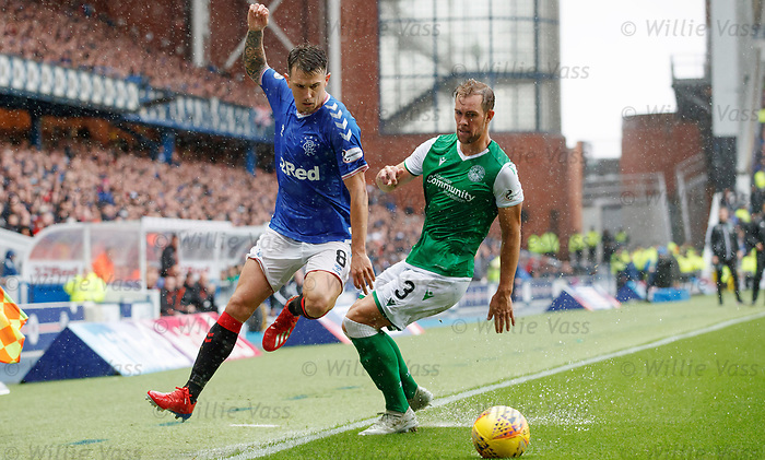 11.08.2019 Rangers v Hibs: Ryan Jack and Steven Whittaker