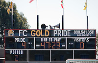 Final Score. FC Gold Pride defeated the Philadelphia Independence 4-0 to win the 2010 WPS Championship at Pioneer Stadium in Hayward, California on September 26th, 2010.