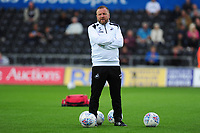 Swansea City assistant manager Billy Reid during the pre-match warm-up for the Sky Bet Championship match between Swansea City and Leeds United at the Liberty Stadium, Swansea, Wales, UK. Tuesday 21 August 2018