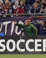 Portland Timbers coach John Spencer. In a Major League Soccer (MLS) match, the New England Revolution tied the Portland Timbers, 1-1, at Gillette Stadium on April 2, 2011.