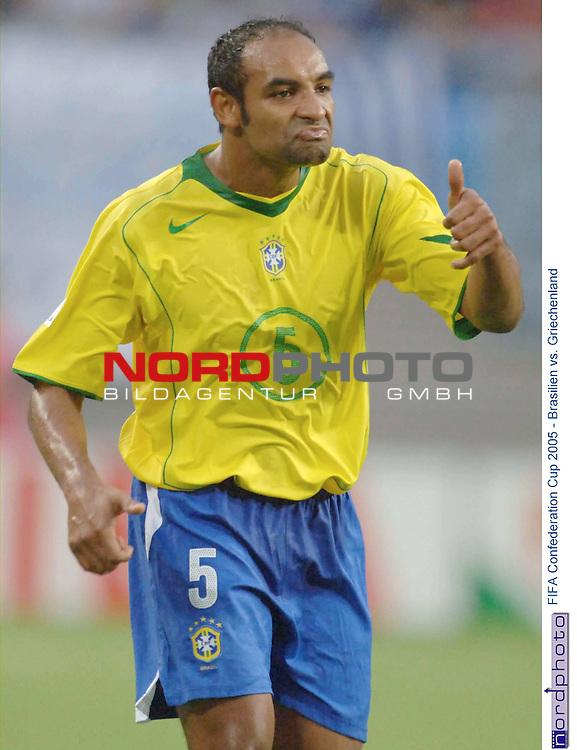 FIFA Confederations Cup 2005   Spiel-04<br /> Brasilien vs. Griechenland  3-0<br /> <br /> Emerson (Brasilien)<br /> <br /> Foto &copy; nordphoto