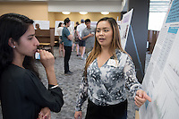 "Jasmine Chen '17 presents ""Immune Responses in Horses Infected with Corynebacterium Pseudotuberculosis""<br /> Occidental College's Undergraduate Research Center hosts their annual Summer Research Conference on Aug. 4, 2016. Student researchers presented their work as either oral or poster presentations at the final conference. The program lasts 10 weeks and involves independent research in all departments.<br /> (Photo by Marc Campos, Occidental College Photographer)"