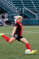 Rochester, NY - Friday April 29, 2016: Western New York Flash defender Abigail Dahlkemper (13) during a National Women's Soccer League (NWSL) match at Sahlen's Stadium.