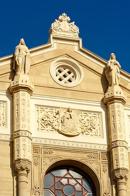 The Romantic style  Vigado Concert Hall (Vigadó) designed by Frigyes Feszl, Budapest, Hungary