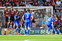James Maddison of Leicester City (10) takes free kick during AFC Bournemouth vs Leicester City, Premier League Football at the Vitality Stadium on 15th September 2018