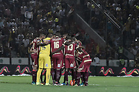 IBAGUÉ -COLOMBIA, 14-12-2016. Jugadores del Deportes Tolima oran previo al encuentro de ida con Independiente Santa Fe por la final de la Liga Aguila II 2016 jugado en el estadio Manuel Murillo Toro de la ciudad de Ibagué. / Players of Deportes Tolima pray prior the first leg match against Independiente Santa Fe for the final of the Aguila League II 2016 played at Manuel Murillo Toro stadium in Ibague city. Photo: VizzorImage/ Gabriel Aponte / Staff