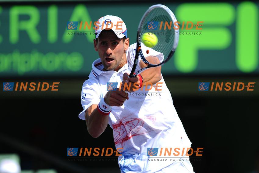 Novak Djokovic (Serbia).Torneo di tennis di Miami.26/03/2012 Miami.Foto Insidefoto / Antoine Courvercelle ..Only Italy