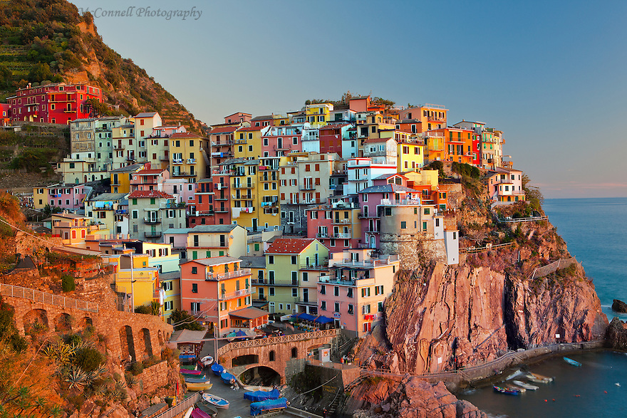 """Manarola Sunset""<br />