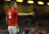 17th March 2018, Principality Stadium, Cardiff, Wales; NatWest Six Nations rugby, Wales versus France; Liam Williams of Wales gestures during the match