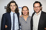 Lucas Hnath, Laurie Metcalf and Sam Gold attends the 83rd Annual Drama League Awards Ceremony  at Marriott Marquis Times Square on May 19, 2017 in New York City.
