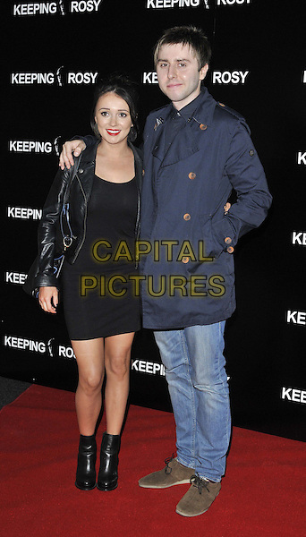 LONDON, ENGLAND - JUNE 26: Clair Meek &amp; James Buckley attend the &quot;Keeping Rosy&quot; UK film premiere, Hackney Picturehouse, Mare St., on Thursday June 26, 2014 in London, England, UK.<br /> CAP/CAN<br /> &copy;Can Nguyen/Capital Pictures