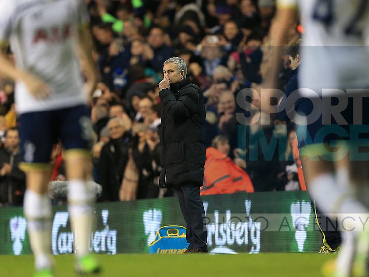 Chelsea's Jose Mourinho looks on dejected after going 5-2 down<br /> <br /> Barclays Premier League - Tottenham Hotspur vs Chelsea - White Hart Lane  - England - 1st January 2015 - Picture David Klein/Sportimage