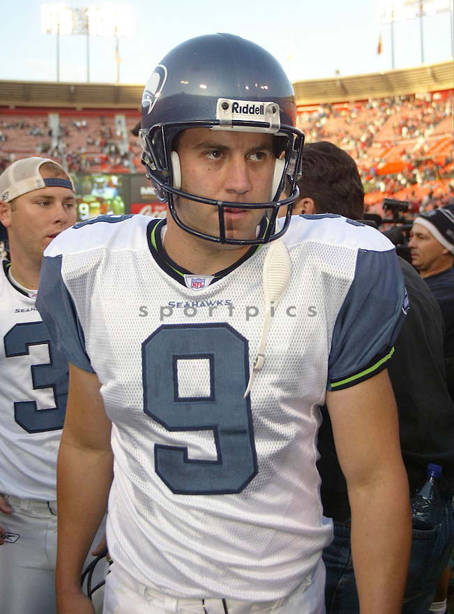 Donnie Jones during the Seattle Seahavks v. San Francisco 49ers game on November 7, 2004...Seattle wins 42-27..Rob Holt / SportPics