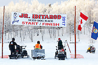 at Knik during the start of the Junior Iditarod on Saturday February 25, 2017. <br /> <br /> <br /> Photo by Jeff Schultz/SchultzPhoto.com  (C) 2017  ALL RIGHTS RESVERVED
