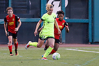 Rochester, NY - Saturday July 09, 2016: Seattle Reign FC midfielder Beverly Yanez (17), Western New York Flash defender Taylor Smith (11) during a regular season National Women's Soccer League (NWSL) match between the Western New York Flash and the Seattle Reign FC at Frontier Field.
