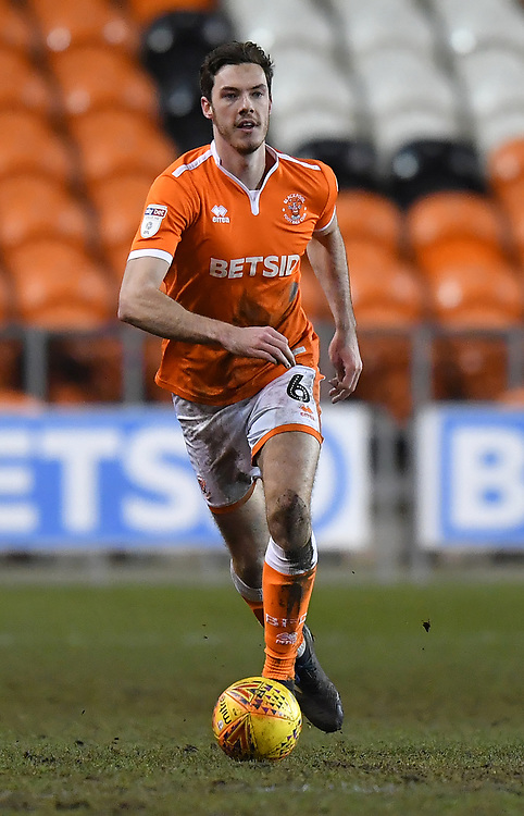 Blackpool's Ben Heneghan<br /> <br /> Photographer Dave Howarth/CameraSport<br /> <br /> The EFL Sky Bet League One - Blackpool v Wycombe Wanderers - Tuesday 29th January 2019 - Bloomfield Road - Blackpool<br /> <br /> World Copyright © 2019 CameraSport. All rights reserved. 43 Linden Ave. Countesthorpe. Leicester. England. LE8 5PG - Tel: +44 (0) 116 277 4147 - admin@camerasport.com - www.camerasport.com