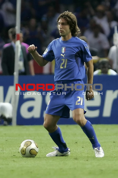 FIFA WM 2006 - Final / Finale<br /> Play #64 (09-Jul) - Italy vs France.<br /> <br /> PIRLO Andrea<br /> <br /> Italy is World Champion / Weltmeister 2006 mit dem Pokal / Trophy after the match of the World Cup in Berlin.<br /> <br /> <br /> Foto &copy; nordphoto