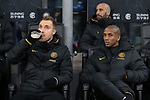 Christian Eriksen and Ashley Young of Inter pictured on the bench during the Coppa Italia match at Giuseppe Meazza, Milan. Picture date: 12th February 2020. Picture credit should read: Jonathan Moscrop/Sportimage
