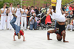 Victor Terlier tries his hand at the Capoeira at the Samba Festival on West Street...(Photo credit should read Jenny Matthews www.newsfile.ie)....This Picture has been sent you under the conditions enclosed by:.Newsfile Ltd..The Studio,.Millmount Abbey,.Drogheda,.Co Meath..Ireland..Tel: +353(0)41-9871240.Fax: +353(0)41-9871260.GSM: +353(0)86-2500958.email: pictures@newsfile.ie.www.newsfile.ie.