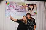 "Wendy Madore poses with As The World Turns' Lauren B. Martin who hosts ""Sing for Autism Karaoke"" on October 6, 2017 - a part of the Guiding Light Daytime Stars and Strikes for Autism weekend at the Residence Inn, Secaucus, New Jersey. (Photo by Sue Coflin/Max Photo)"