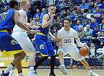 January 14, 2017:  Air Force forward, Hayden Graham #35, works near the basket during the NCAA basketball game between the San Jose State Spartans and the Air Force Academy Falcons, Clune Arena, U.S. Air Force Academy, Colorado Springs, Colorado.  San Jose State defeats Air Force 89-85.
