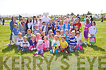 The Easter Bunny was at Cracow Park, Valentia on Easter Sunday, pictured here with some of the kids who took part in his Easter Egg Hunt.