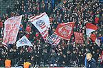 10.03.2018, OLympiastadion, Berlin, GER, 1.FBL, Hertha BSC VS. FC Freiburg, im Bild <br /> Freiburger-Fanblock<br /> <br /> <br />       <br /> Foto &copy; nordphoto / Engler