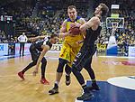 14.04.2018, EWE Arena, Oldenburg, GER, BBL, EWE Baskets Oldenburg vs s.Oliver W&uuml;rzburg, im Bild<br /> Foul gegen Oldenburg...<br /> Rasid MAHALBASIC (EWE Baskets Oldenburg #24)<br />  Abdul GADDY (s.Oliver W&uuml;rzburg #3 ),Dejan KOVACEVIC (s.Oliver W&uuml;rzburg #22 )<br /> Foto &copy; nordphoto / Rojahn