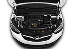 Car Stock 2019 Opel Crossland-X Edition 5 Door SUV Engine  high angle detail view
