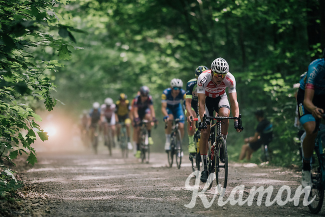 defending champion Mathieu van der Poel (NED/Corendon-Circus) over the first gravel section<br /> <br /> 3rd Dwars Door Het hageland 2018 (BEL)<br /> 1 day race:  Aarschot > Diest: 198km